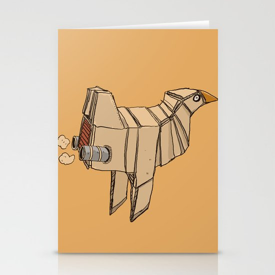Space Chicken Stationery Card