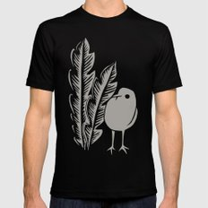Graphic Bird SMALL Black Mens Fitted Tee