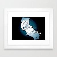 Cali Skum logo Framed Art Print