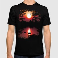 Swan Shine Mens Fitted Tee Black SMALL