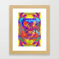 Caticorn-Lady Jasmine Framed Art Print