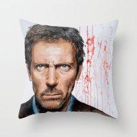 Hugh Laurie, House Throw Pillow