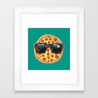 Cool Pizza Framed Art Print