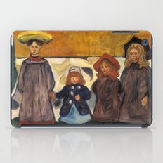 Four Girls in Åsgårdstrand by Edvard Munch iPad Case