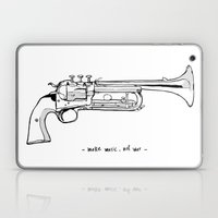 Make music, not war. Laptop & iPad Skin