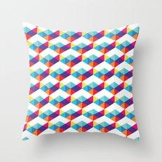 modern rainbow party Throw Pillow