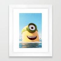 MINION LIFE: HAPPY DAY! Framed Art Print