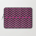 Pink Black Tribal Chevron Laptop Sleeve