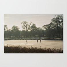 Skating on Ice Canvas Print