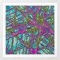 Neon Network Art Print