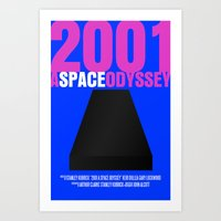 2001: A Space Odyssey Movie Poster Art Print