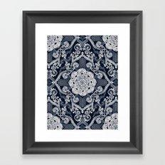 Centered Lace - Dark Framed Art Print
