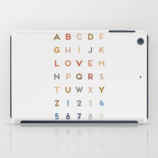 Letter Love - Color iPad Case