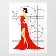 Red Elegance Art Print