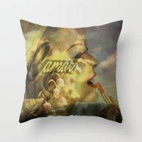 Camero Girl Throw Pillow