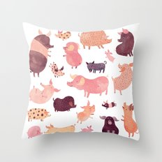 Pig Pig Pig  Throw Pillow