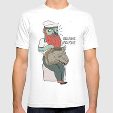 brushie brushie SMALL White Mens Fitted Tee