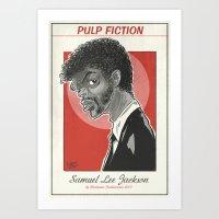 Samuel Lee Jackson Caric… Art Print