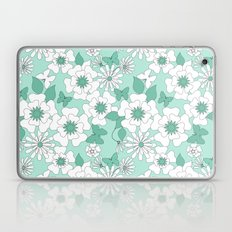 Turquoise floral pattern .  Laptop & iPad Skin
