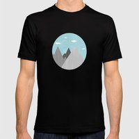 The Mountains are Calling and I must go Mens Fitted Tee Black SMALL