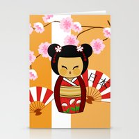 Kokeshi Ai  Stationery Cards