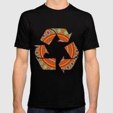 Mandala Aztec Pattern Mens Fitted Tee Black SMALL