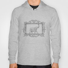 grey frame with elephant Hoody