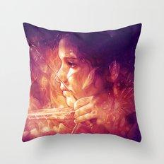 Catching Fire Throw Pillow