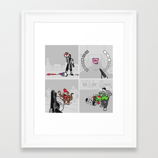 Good Guys In Bad Games Framed Art Print