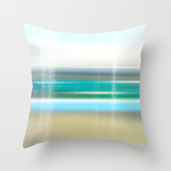 view to the breakers Throw Pillow