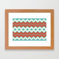 Ikat Framed Art Print