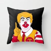 McDonald Trump Throw Pillow