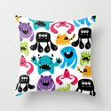 Monster pattern Throw Pillow