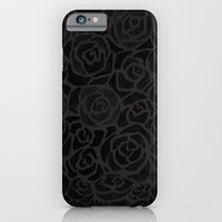 Cluster of Black Roses iPhone 6 Slim Case
