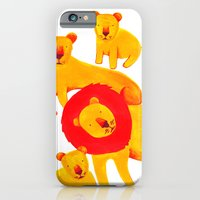 iPhone & iPod Case featuring Lion Family by Vasilisa Wise