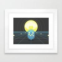Pac-Monster Framed Art Print