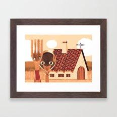 Kitchen Gothic Framed Art Print
