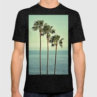 Three Day Weekend Mens Fitted Tee Tri-Black SMALL