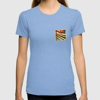 Sticker of Brazil (San Paulo) flag Womens Fitted Tee Tri-Blue SMALL