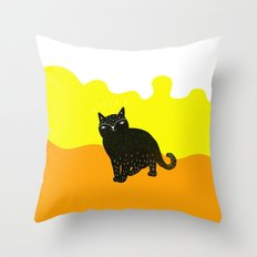 Cats Life 3 Throw Pillow