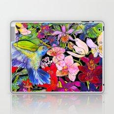 Hummingbirds Black Laptop & iPad Skin