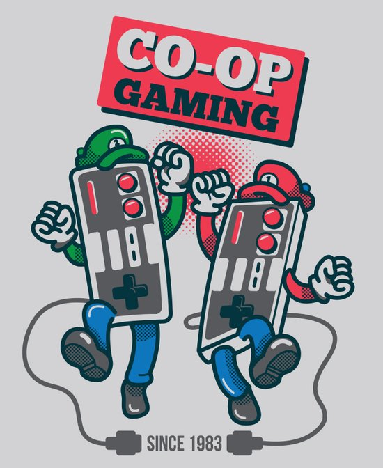 Co-op Gaming Art Print