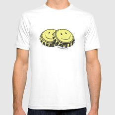 Two Happy Beers Mens Fitted Tee White SMALL