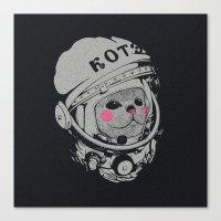 Spaceman Cat Canvas Print