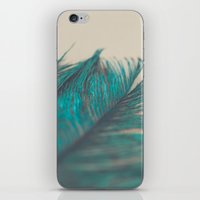 Turquoise Feather Abstra… iPhone & iPod Skin