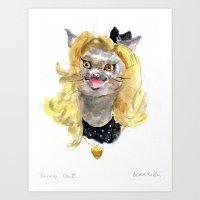 Fancy Cat Art Print