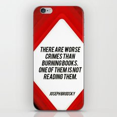 there are worst crimes iPhone & iPod Skin