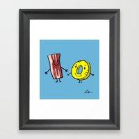 Bacon Pineapple Framed Art Print