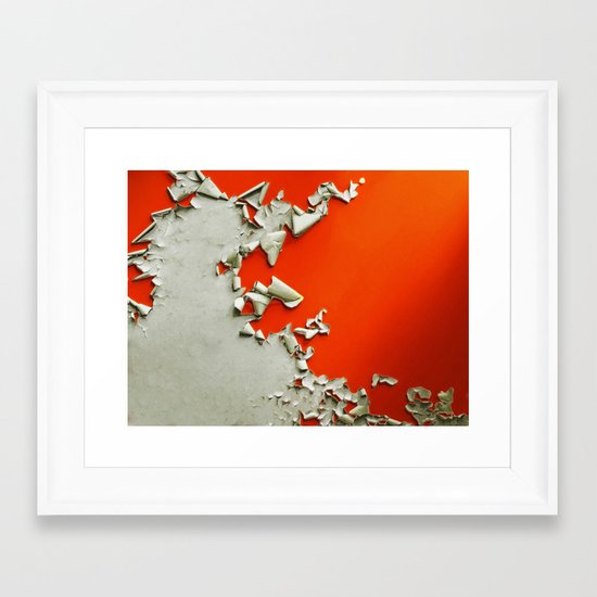 Orange Paper Peel Framed Art Print
