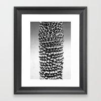 Bananas black and white Framed Art Print